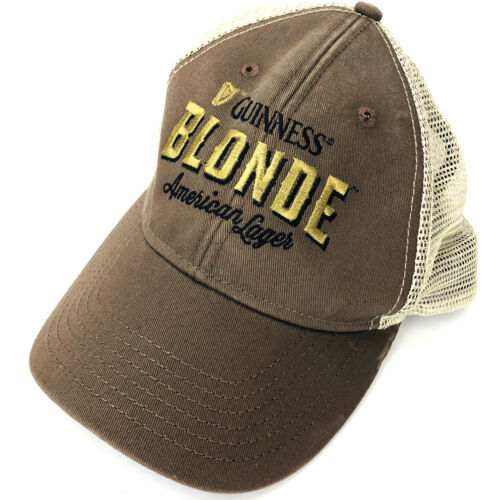 Primary image for Guinness Blonde American Lager Brown Taupe Mesh Adjustable Back Baseball Hat