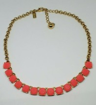 """Kate Spade Squared Away Neon Pink Gold Tone Necklace 20"""" - $35.00"""