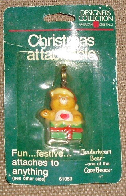 Vtg 1985 Care Bears Xmas Attachables Mini Figure MOC #2