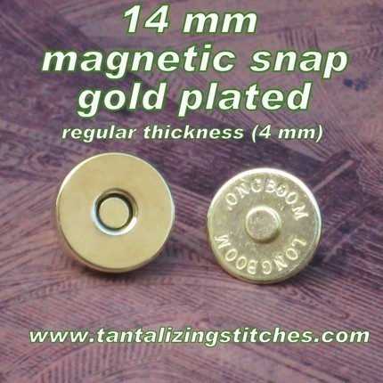 600 Gold No 2 14 mm Regular Magnetic Snap Closures
