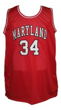 Len Bias #34 College Basketball Jersey Sewn Red Any Size image 4