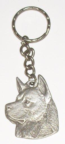 I love My AKITA dog Pewter keyring key chain 1983 RAWCL