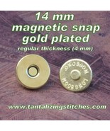5 Gold No 2 14 mm Regular Magnetic Snap Closures - $3.00