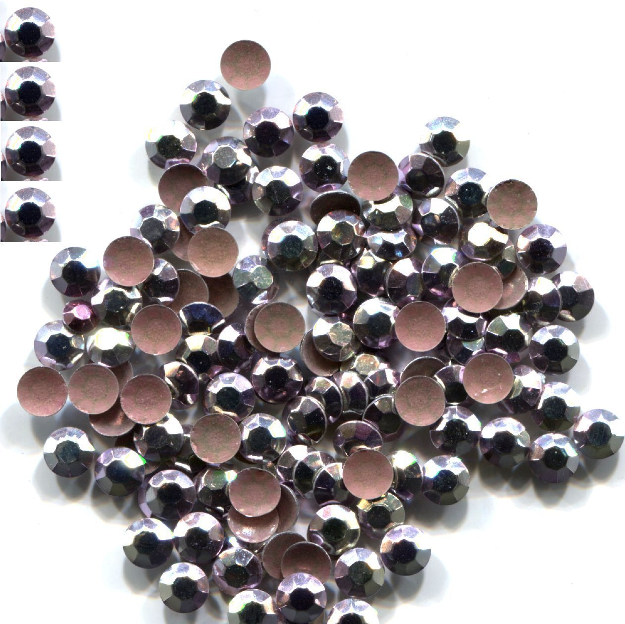 Primary image for RHINESTUDS Faceted 2mm AB ICE PINK Hot Fix 144 PC  1 gross