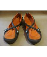 Crocs GIRLS ORANGE CELESTE CANVAS FLATS RUBBER SIZE US 5 W SHOES - $24.95
