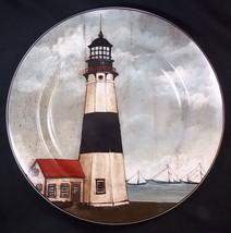 "By the Sea Lighthouse salad plate David Carter Brown Oneida 8.25"" #4 - $8.75"