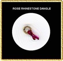 ROSE  Rhinestone RIBBON  Nail Art Dangle Jewelry - $3.94