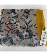 Lulla by Bindya Gray Yellow Floral Fashion Scarf New with tags - $25.00
