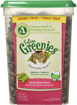 FELINE GREENIES Dental Treats For Cats Savory Salmon Flavor 11 Ounces - $9.99+