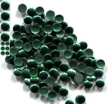 ROUND Smooth Nailheads 4mm Hot Fix EMERALD color 144 PC  1 gross - $3.64