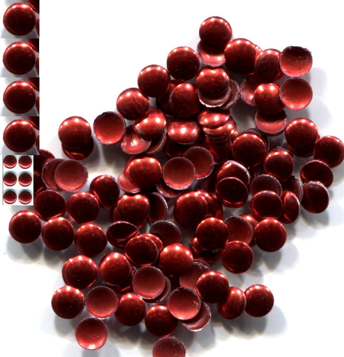 Primary image for ROUND Smooth Nailheads   4mm Hot Fix   RED   144 Pc  1 gross