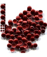 ROUND Smooth Nailheads   4mm Hot Fix   RED   144 Pc  1 gross - $3.64