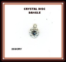 Rhinestone Disc Tiny Center  Nail Dangle Nail ART - $5.85