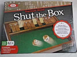 New Ideal Game Classics Premium Wood Shut the Box Dice and Numbers Game 2010 - $9.41