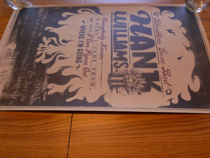 Hank Williams III Autographed Bloodline Gone Bad 2000 Tour Poster Hank III