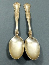 1900 Gorham Buttercup Sterling Silver Hallmarked Monogramed set of 2 Tea... - $128.70