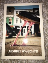 Absolut *%@*/@#!! Ad Postcard 4*6 no 168 - $3.99