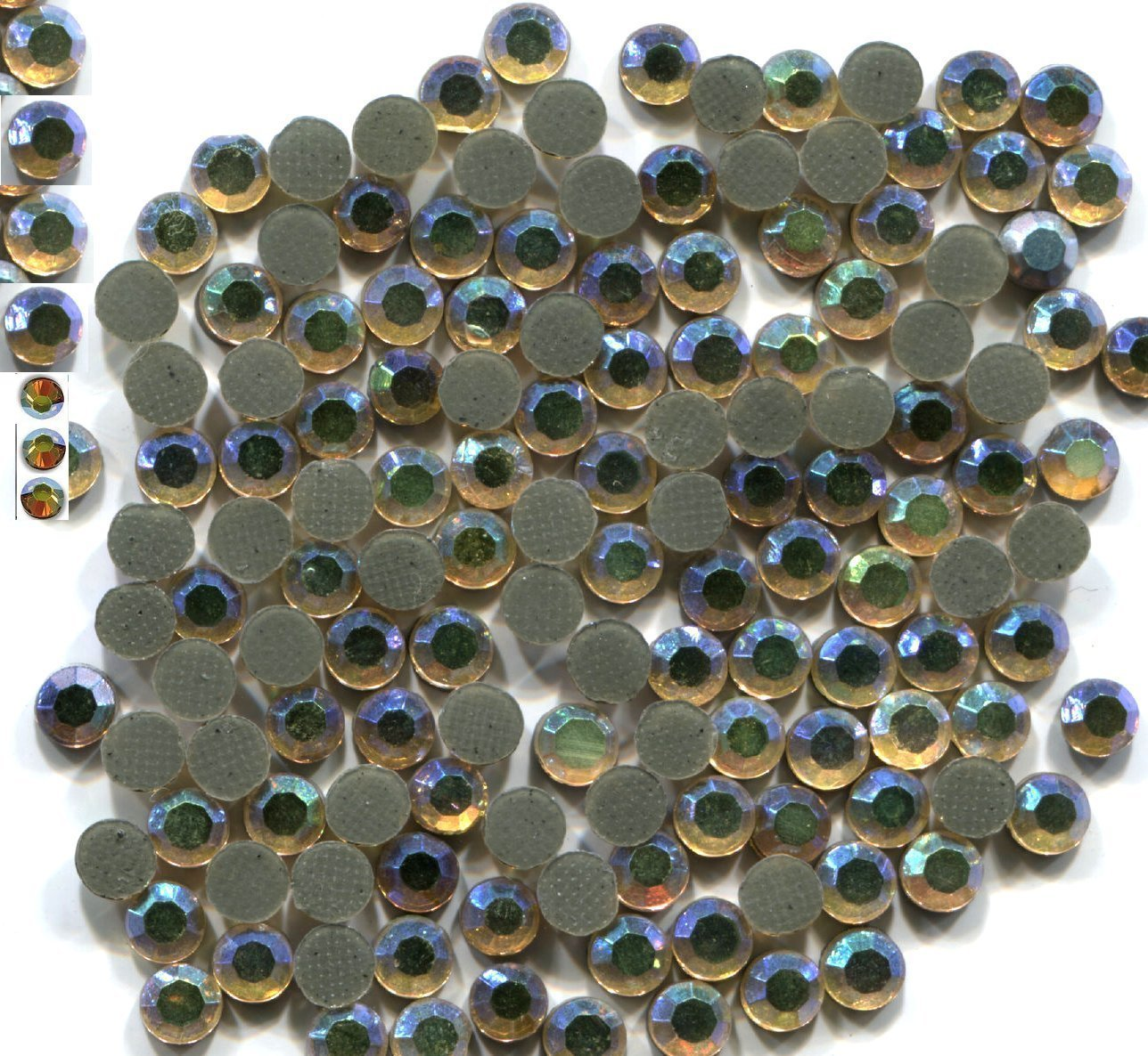 Rhinestones 10ss 3mm Crystals AB GOLD Hot Fix 1 gross