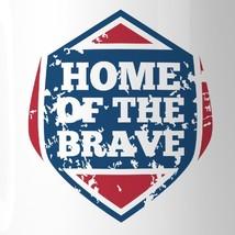 Home Of The Brave Unique Design Graphic Mug White Microwave Safe image 2