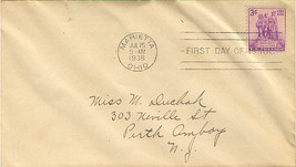 Northwest Territory Sesquicentennial First Day Cover - $2.00