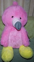 "Animal Adventures Pink & Yellow FLAMINGO 16""H Large Plush NWT - $10.88"