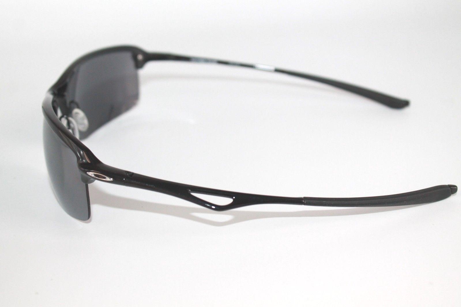 bd07fd6bd4f Oakley Wiretap Sunglasses OO4071-01 Polished Black Frame W  Black Iridium  Lens