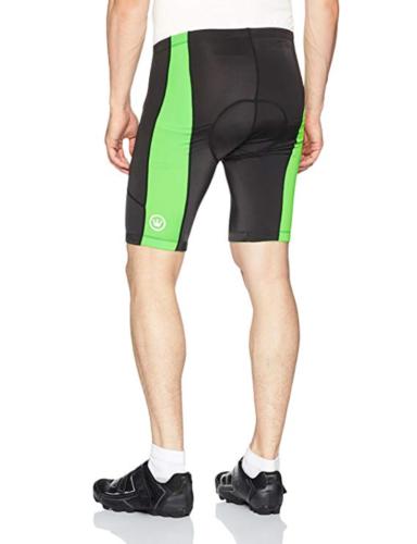 Large CANARI Men's Hi-Viz Cycling Shorts Tights Flow Stick Green