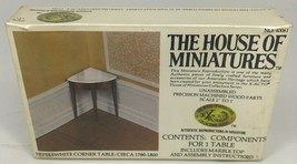 NEW The House of Miniatures Heppelwhite Corner Table No. 40061 SEALED - $7.91