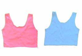 Sz M/L - Rave Low Back Crop Tops in Pink & Light Blue - $15.29
