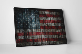 """Grunge USA Flag Gallery Wrapped Canvas Print. 30""""x20"""" or 20""""x16"""" - $44.50+"""