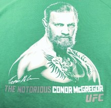 Reebok MMA The Notorious Connor McGregor UFC Shirt Mens Large Green & Wh... - $24.50