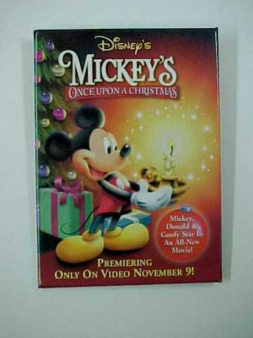 "Disney's ""Mickey's Once Upon a Christmas"" Pin Back Pinback Button"