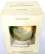 Hallmark Christmas Glass Ornament Black Angel 1979 - $12.00