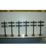 O SCALE TELEPHONE POLES     HAND CRAFTED    PACK OF 24 - $47.99