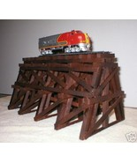 WOODEN TRESTLE FOR MODEL RAILROAD TRAIN LAYOUT HO SCALE - $24.99