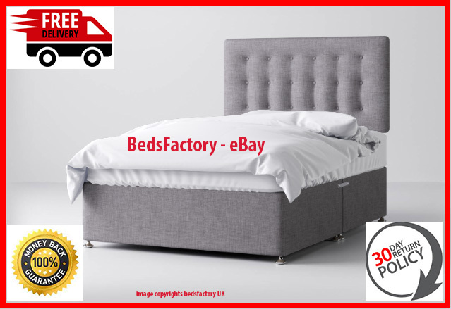 Grey divan bed bedsfactory
