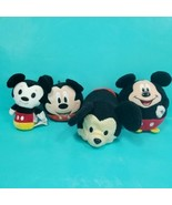 "Disney Mickey Mouse Plush lot of 4 Small 4"" Stuffed Ballz Itty Bitty Coi... - $24.74"
