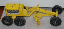 Vintage STRUCTO Construction Company Road Grader Yellow Metal Toy Vehicle! - $93.49