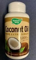 Nature's Way Pure Extra Virgin Coconut Oil, 1000mg 120 Softgels Exp. 5/21 - $12.42