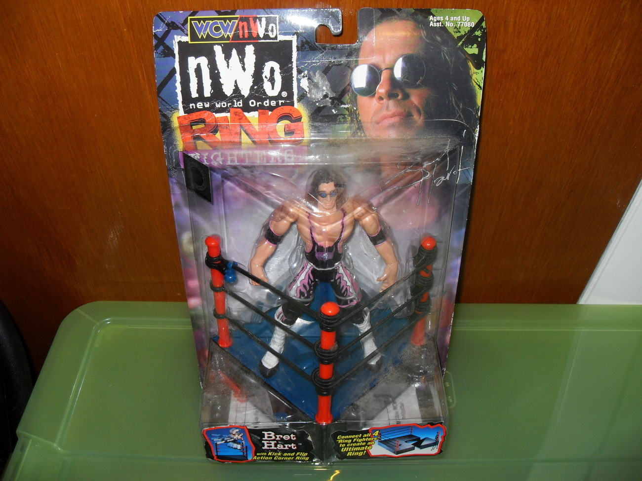 Primary image for 1999 WCW NWO Ring Fighters Bret Hart Figure in the Package