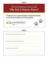 KumasonCo Pet Emergency Care Card Pack of 6 - $14.65
