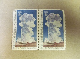 US 1972 8c Old Faithful Yellowstone National Parks Centennial Stamps Lot 5 - $1.00