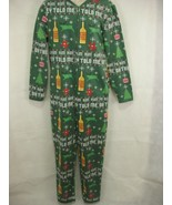 Mens One Piece Pajamas Rum Eggnog Oh They Told Me Size S Dec 25th  - $19.79
