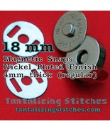 36 Nickel 18 mm Regular Magnetic Snap Closures - $11.94