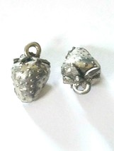 Strawberry Fine Pewter Cast Pendant Charm image 1