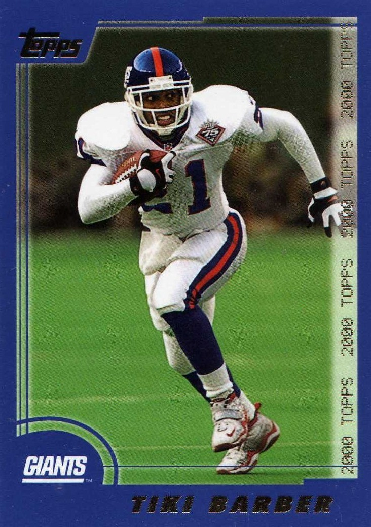 2000 Topps Tiki Barber New York Giants