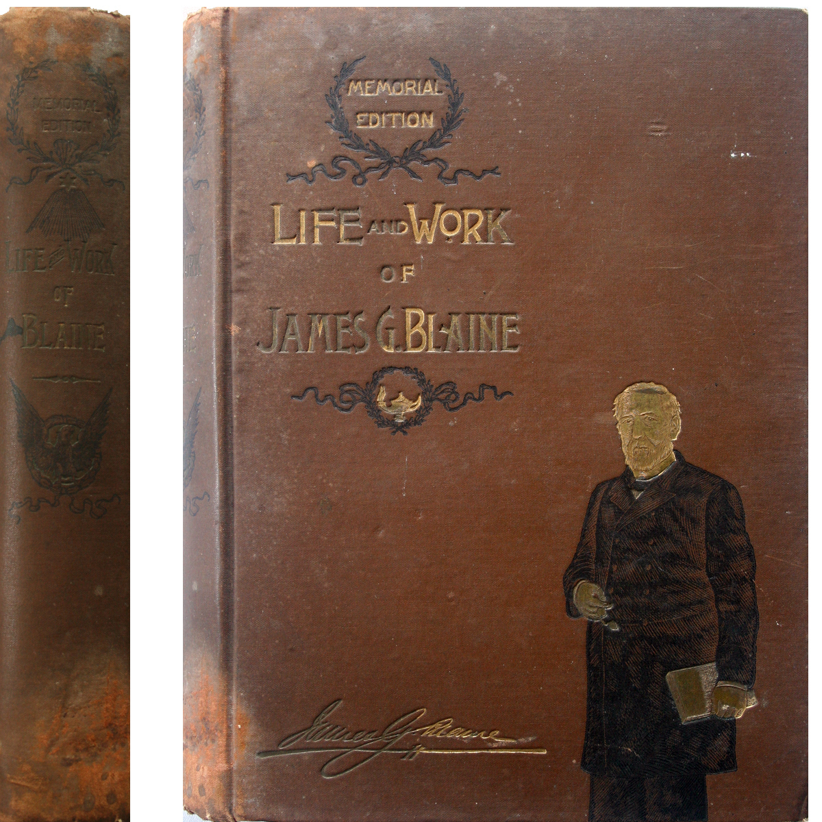 1893 Life & Work of JAMES G. BLAINE Memorial Edition Illust.