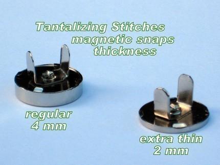 5 Antique Brass 18 mm Regular Magnetic Snap Closures