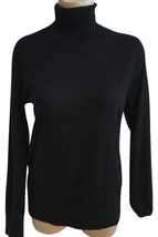 Ann Taylor Black Wool Blend Turtleneck Sweater M NEW - $24.95