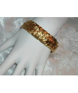 Vintage Germany Bracelet Pre WWll Gold Plated Wide Width - $59.95